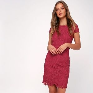 NWT Lulus Right Sheer, Right Now Lace Dress